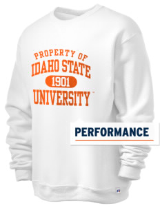 Idaho State University Bengals  Russell Men's Dri-Power Crewneck Sweatshirt