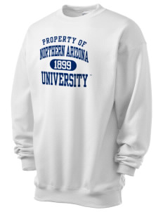 Northern Arizona University Lumberjacks Men's 7.8 oz Lightweight Crewneck Sweatshirt