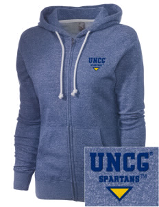 The University of North Carolina at Greensboro Spartans Embroidered Women's Marled Full-Zip Hooded Sweatshirt