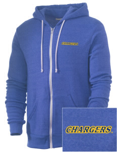 University of New Haven Chargers Embroidered Alternative Men's Rocky Zip Hooded Sweatshirt