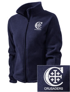 Christendom College Crusaders Embroidered Women's Fleece Full-Zip Jacket