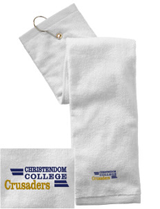 Christendom College Crusaders Embroidered Hand Towel with Grommet