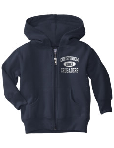 Christendom College Crusaders  Toddler Hooded Zip Up Sweatshirt w/ Pockets