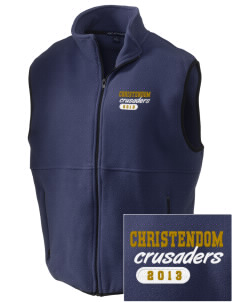 Christendom College Crusaders Embroidered Men's Fleece Vest