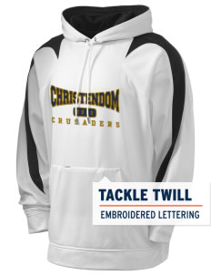 Christendom College Crusaders Holloway Men's Sports Fleece Hooded Sweatshirt with Tackle Twill
