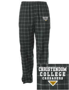 Christendom College Crusaders Embroidered Men's Button-Fly Collegiate Flannel Pant