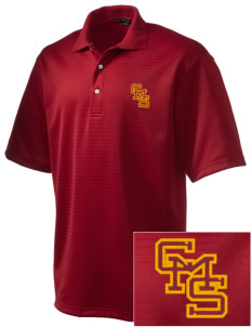 Claremont-Mudd-Scripps Women's Athletics Athenas  Embroidered Men's Shadow Stripe Interlock Polo