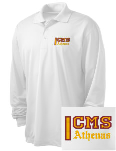 Claremont-Mudd-Scripps Women's Athletics Athenas Embroidered Men's Long Sleeve Micropique Sport-Wick Sport Shirt