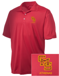 Claremont-Mudd-Scripps Women's Athletics Athenas Embroidered Men's Double Mesh Polo