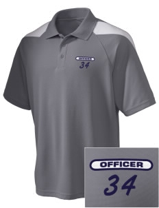 Huntley Police Department Embroidered Holloway Men's Frequency Performance Pique Polo