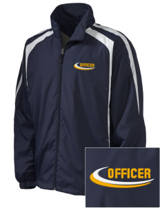 Schiller Park Police Department Embroidered Men's Colorblock Raglan Jacket