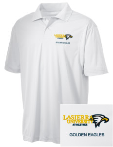 La Sierra University Golden Eagles Embroidered Men's Micro Pique Polo