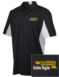 La Sierra University Golden Eagles Embroidered Men's Side Blocked Micro Pique Polo