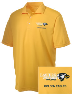 La Sierra University Golden Eagles Embroidered Men's Double Mesh Polo
