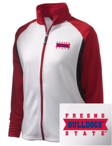 Fresno State Bulldogs Embroidered Holloway Women's Reaction Tri-Color Jacket