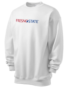 Fresno State Bulldogs Men's 7.8 oz Lightweight Crewneck Sweatshirt