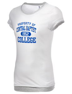 Central Baptist College Mustangs Women's Sheer Claudette 2 in 1 T-Shirt