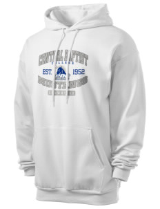 Central Baptist College Mustangs Men's 7.8 oz Lightweight Hooded Sweatshirt
