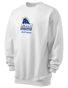 Central Baptist College Mustangs Men's 7.8 oz Lightweight Crewneck Sweatshirt