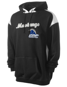 Central Baptist College Mustangs Men's Pullover Hooded Sweatshirt with Contrast Color
