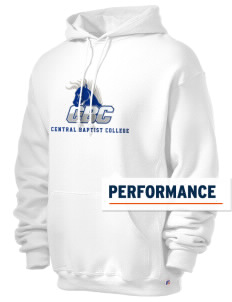 Central Baptist College Mustangs Russell Men's Dri-Power Hooded Sweatshirt