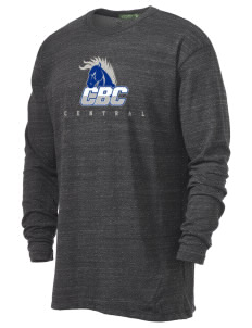 Central Baptist College Mustangs Alternative Men's 4.4 oz. Long-Sleeve T-Shirt