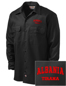 Albania Embroidered Dickies Men's Long-Sleeve Workshirt