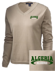 Algeria Embroidered Women's V-Neck Sweater
