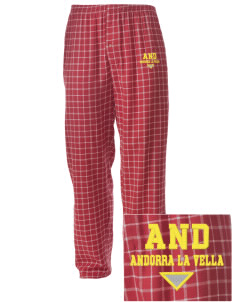 Andorra Embroidered Men's Button-Fly Collegiate Flannel Pant