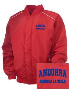 Andorra Embroidered Russell Men's Baseball Jacket