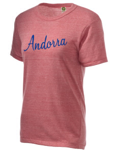 Andorra Embroidered Alternative Unisex Eco Heather T-Shirt