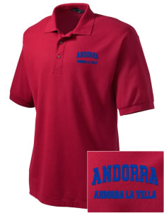 Andorra Embroidered Tall Men's Silk Touch Polo