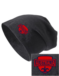 Australia Embroidered Slouch Beanie