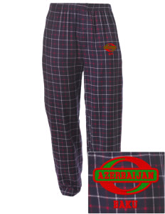 Azerbaijan Embroidered Men's Button-Fly Collegiate Flannel Pant