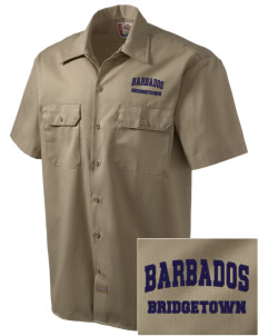 Barbados Embroidered Dickies Men's Short-Sleeve Workshirt