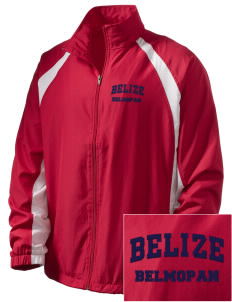 Belize  Embroidered Men's Full Zip Warm Up Jacket