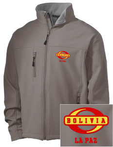Bolivia Embroidered Men's Soft Shell Jacket
