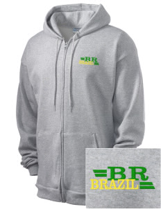 Brazil Men's 7.8 oz Lightweight Full-Zip Hooded Sweatshirt