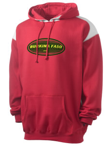 Burkina Faso Men's Pullover Hooded Sweatshirt with Contrast Color