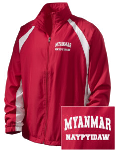 Myanmar  Embroidered Men's Full Zip Warm Up Jacket