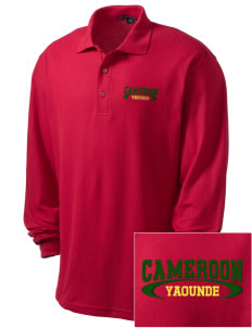 Cameroon Embroidered Men's Silk Touch Long-Sleeve Polo