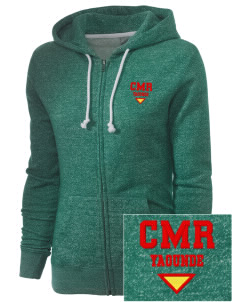 Cameroon Embroidered Women's Marled Full-Zip Hooded Sweatshirt