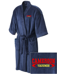 Cameroon Embroidered Terry Velour Robe