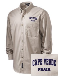 Cape Verde Embroidered Men's Twill Shirt