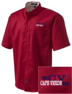 Cape Verde Embroidered Men's Easy Care Shirt
