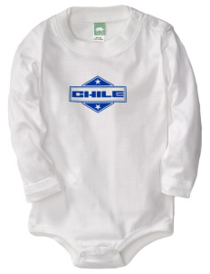 Chile  Baby Long Sleeve 1-Piece with Shoulder Snaps