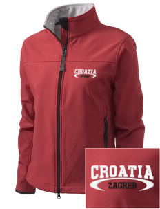 Croatia Embroidered Women's Glacier Soft Shell Jacket