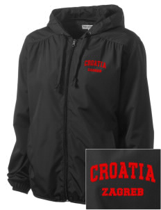 Croatia Embroidered Women's Hooded Essential Jacket