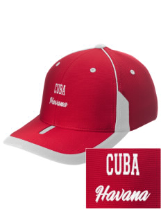 Cuba Embroidered M2 Universal Fitted Contrast Cap