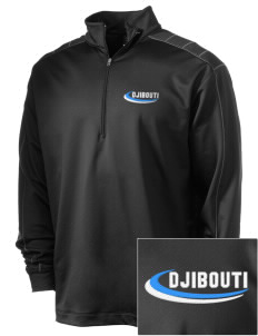 Djibouti Embroidered Nike Men's Golf Dri-Fit 1/2 Zip